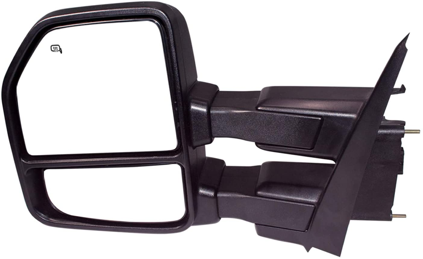 AERDM New towing mirror Black Housing with Temperature sensor fit 2015-2018 F150 Towing Mirrors w//Blind Spot with Turn Signal Puddle and Auxiliary Lamp