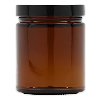Large Amber Glass Storage Jar with Air-Tight Lid