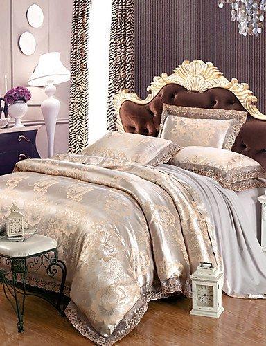 ZQファッションパーソナリティスタイルテンセル生地モーダルサテンジャカード寝具ウェディングスイート4 Piece 1.5 m-1.8 m / ¶</ベッド寝具セット キング 8096525925128 B01GLBJ9JE  キング