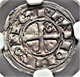 FR 1148-1249 AD France Medieval Europe Crusader Knights Templar Cross Antique French Coin Obol AU55 NGC