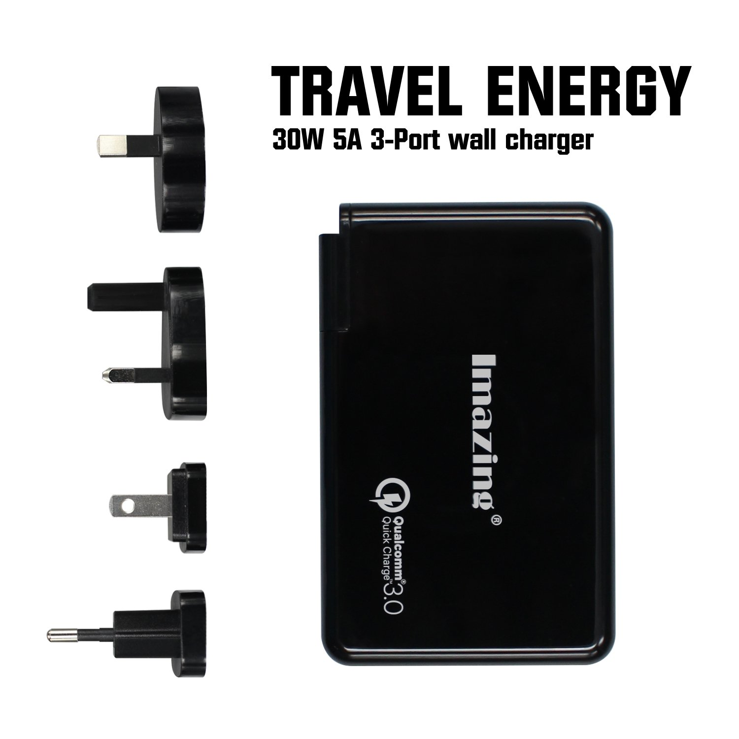Amazon.com: Type-C Power Delivery PD ,[Qualcomm certified QC 3.0] 3-port  USB Charging Hub ,30W USB Type-C Wall Charger Travel Kit for the Macbook,  ...