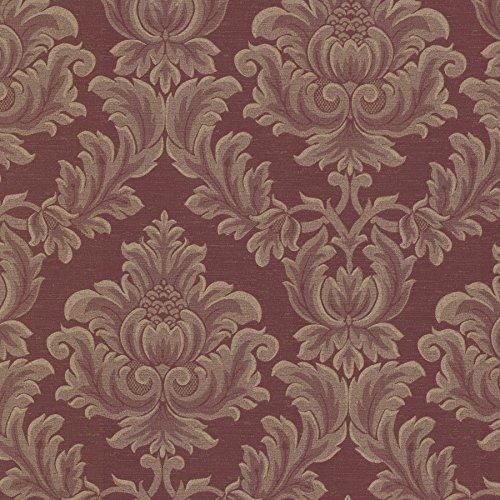 (Mirage 2601-20800 Oldham Damask Wallpaper, Burgundy )