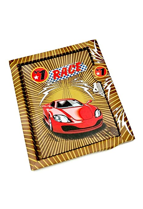 Brown Color Car Theme Lock Diary In A Case For Return Gift Kids