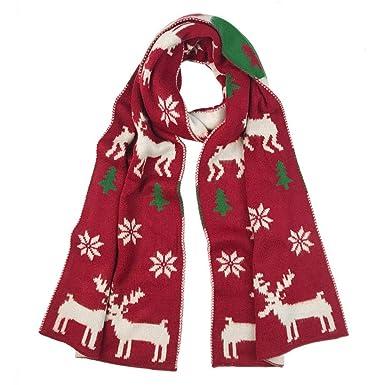 f98d36f5ffc1 Reputedc Châle japonais sauvage chaud en flocon de neige avec un wapiti de  Noël - Écharpe