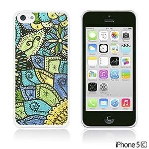 OnlineBestDigital - Fabric Pattern Hard Back Case for Apple iPhone 5C - Doodle Flower