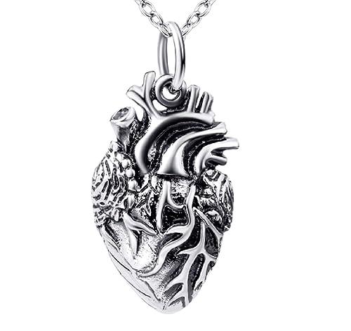 Colgante con forma de corazón anatómico de la marca Serebra Jewelry ...