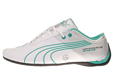 66ba7d1b6870 Image Unavailable. Image not available for. Color  PUMA Future Cat M1 Big  MAMGP White Mercedes Petronas Mens Racing Shoes ...