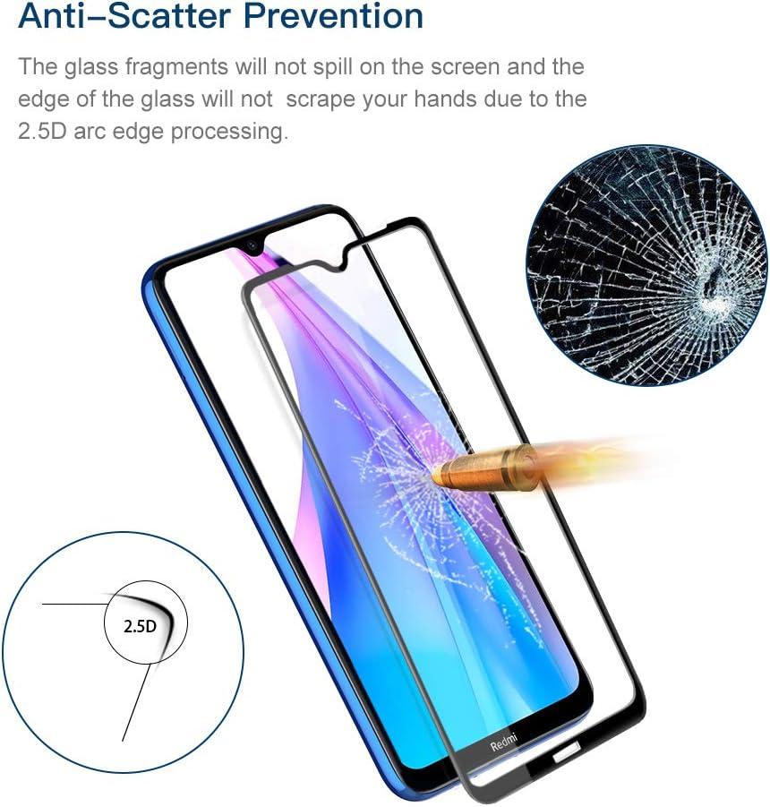 Hianjoo 3 Piezas Protector Pantalla Compatible con Xiaomi Redmi Note 8T Transparente Dureza 9H Anti-Ara/ñazos Sin Burbujas Anti-Huella Cristal Templado Premium Protecci/ón