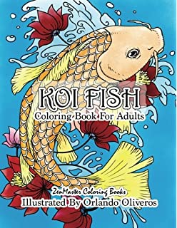 Koi Fish Adult Coloring Book Of For Relaxation And Stress Relief
