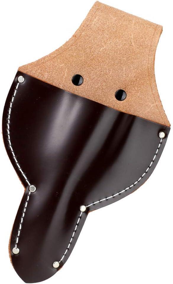 Hanafubuki Wazakura Leather Bonsai Scissors Holster, Made in Japan, Durable Garden Tool Holder with Belt Loop - Brown