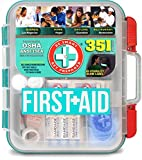 Health & Personal Care : Be Smart Get Prepared 351 Piece First Aid Kit, Exceeds OSHA ANSI 2015 Standards for 100 People - Workplace, Home, Car, School, Emergency, Survival, Camping, Hunting, and Sports