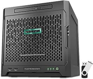 HP ProLiant MicroServer Gen10 P03698-S01 Tower Server Bundle with 16GB USB Drive, AMD Opteron X3421, 8GB DDR4, RAID, No Drives