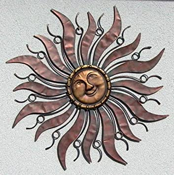 Lovely Wandhänger Wandschmuck Sonne Aus Metall 96 Cm