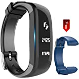Fitness Tracker Watch, Activity Wristband: Bluetooth band, Wireless Smart Bracelet, Wearable Health Pedometer Sleep Monitor with replacement band for IOS & Android Smartphone, EIISON