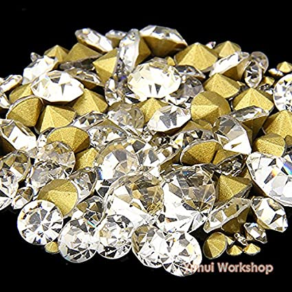 Parts & Accessories Cheap Price Clear White Ss12 Point Back Rhinestones Gems Glass Chatons Strass Nail Art Craft Gems