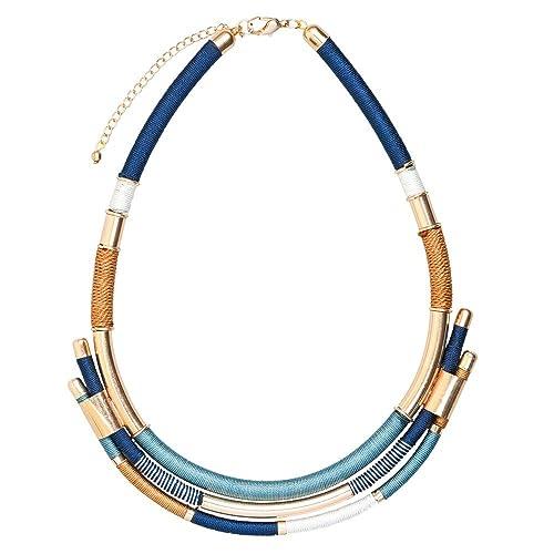 f873b8d252ee LuckyLy – Collares para Mujer de Moda – Collar Moderno Marine – Colores  Marineros Azul
