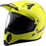 LS2 MX453 Solid Off Road Helmet  (Hi-Vis Yellow, Medium)