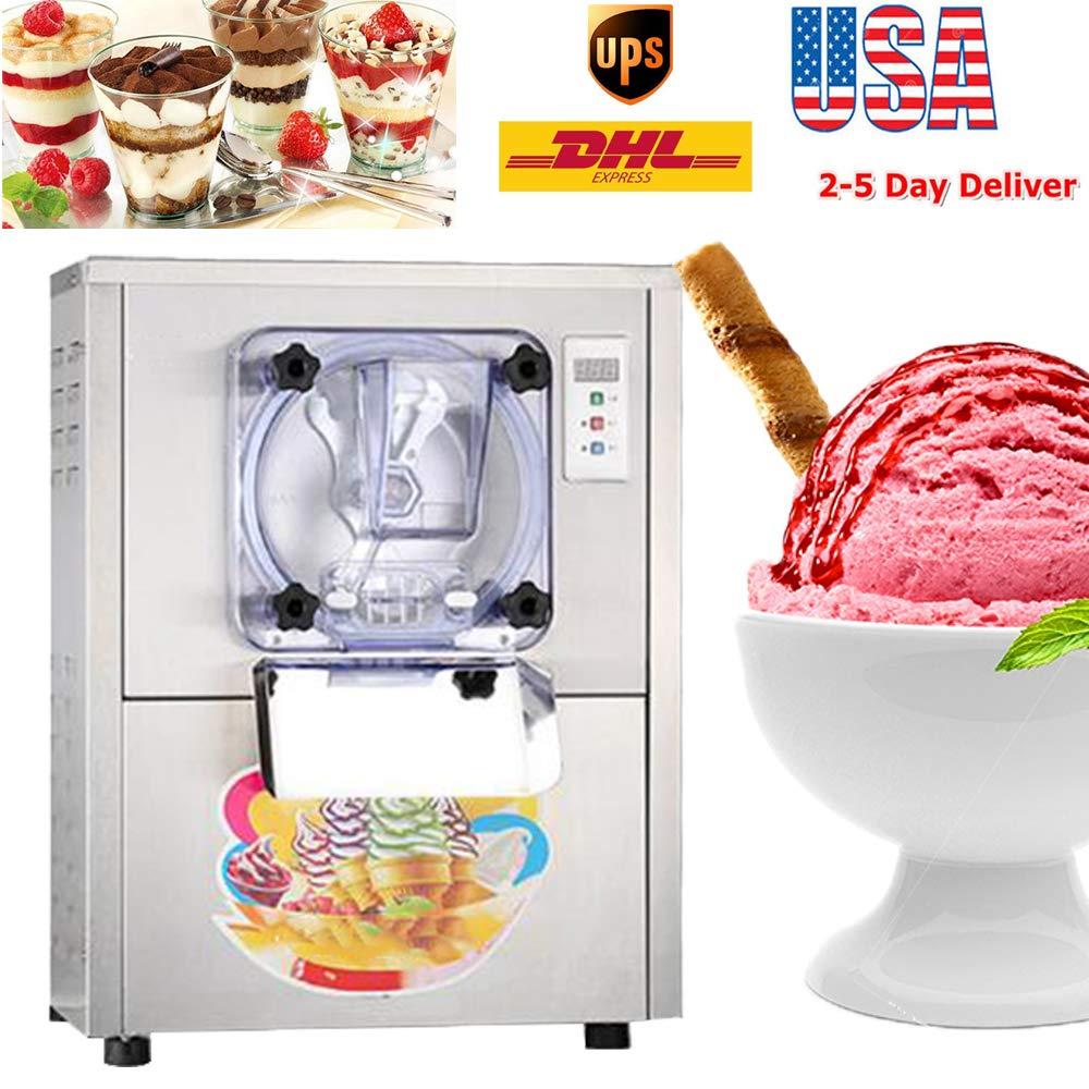 zinnor Hard Ice Cream Machine Commercial Ice Cream Making Machine Stainless Steel Ice Cream Maker 5.28Gal/H 1400W