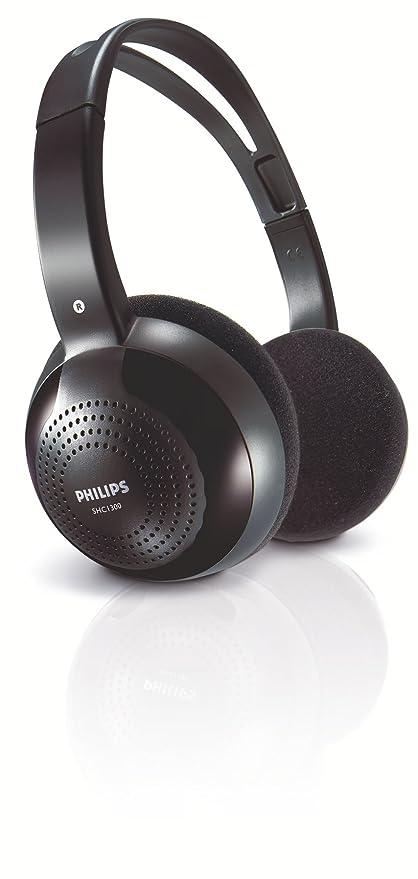 38cca1e803e Amazon.com: Philips Philips Shc1300 - Headphones ( Ear-Cup ) - Wireless -  Infrared: Home Audio & Theater