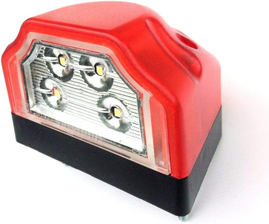 tr/áiler caravanas Nummerschildbeleuchtung camiones. caravanas LED Kennzeichenleuchte maquinaria de construcci/ón Kennzeichenbeleuchtung para remolques