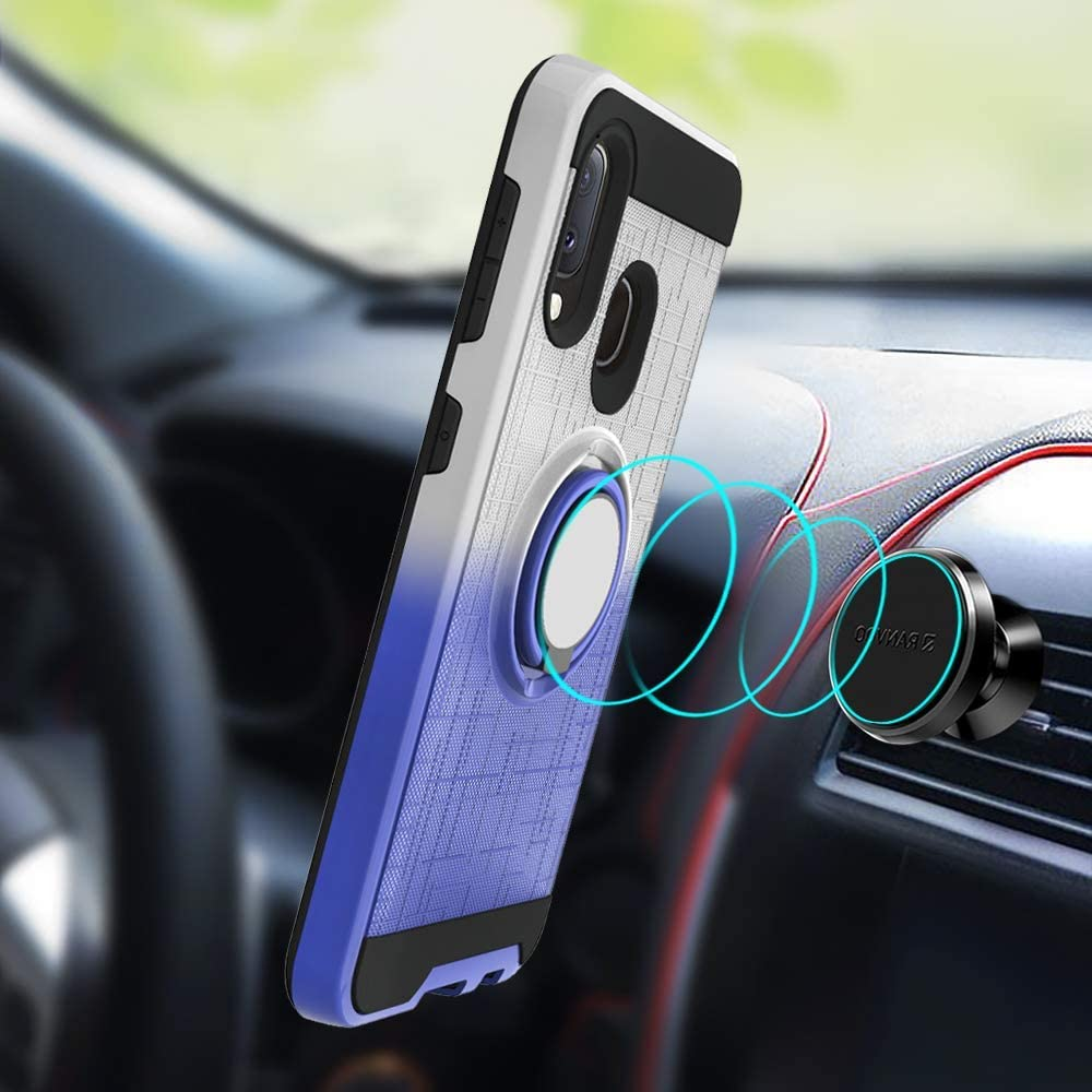 Compatible with LG Aristo 2 //K8 2018 US Version//Aristo2 Plus//LV3 2018 Cover 360 Degree Rotating Ring Holder Kickstand Armor Heavy Duty Bumper Anti-Scratch Dual Layer Protection Fit Magnetic Car Mount