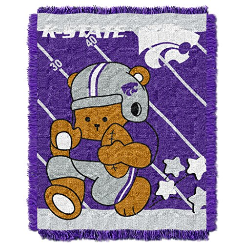 The Northwest Company Officially Licensed NCAA Kansas State Wildcats Fullback Woven Jacquard Baby Throw Blanket, 36