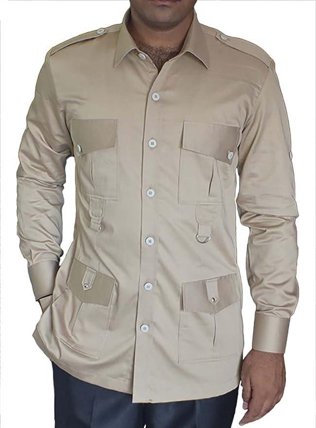 INMONARCH – Caza Safari Hombre en Bush de Bolsillo (4 Camisas de algodón Khakhi HS107: Amazon.es: Ropa y accesorios
