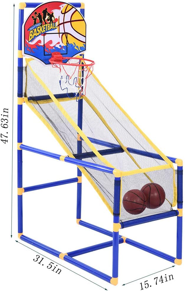 Kids Basketball Hoop with 1 Pump Belone Basketball Circle Arcade Game Toddler Toys 2 basketballs