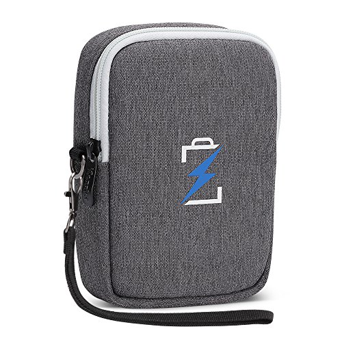 iCozzier Travelling Carrying Case, Portable Cellphone Accessories Storage Pouch Bag for Smart Phone,Camera,Charger,Cables,Headphone,etc