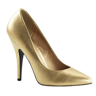 5 Inch Sexy High Heel Shoe Women's Dress Shoes Classic Pump Shoes Gold