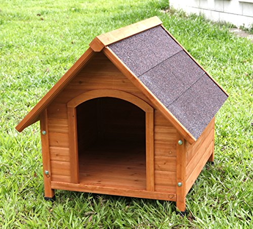 Captain Pet A-Frame Waterproof Dog Kennel Deluxe Natural Solid Wooden Dog House