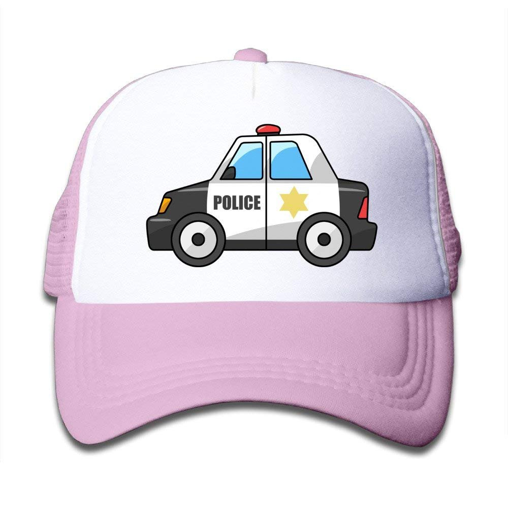 FEAIYEA Police Car Fashion Toldder Kids Cute Adjustable Mesh Cap Hats Travel School Cap