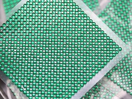 fd0b26b7607649 Amazon.com  3mm SS12 Green Acrylic Self Adhesive Rhinestones - 1 Sheet