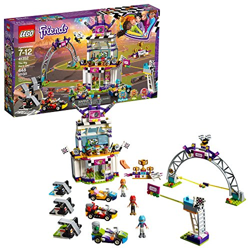 LEGO Friends The Big Race Day 41352 Building Kit, Mini Go Karts and Toy Cars for Girls, Best Christmas Gift for Kids (648 Piece)
