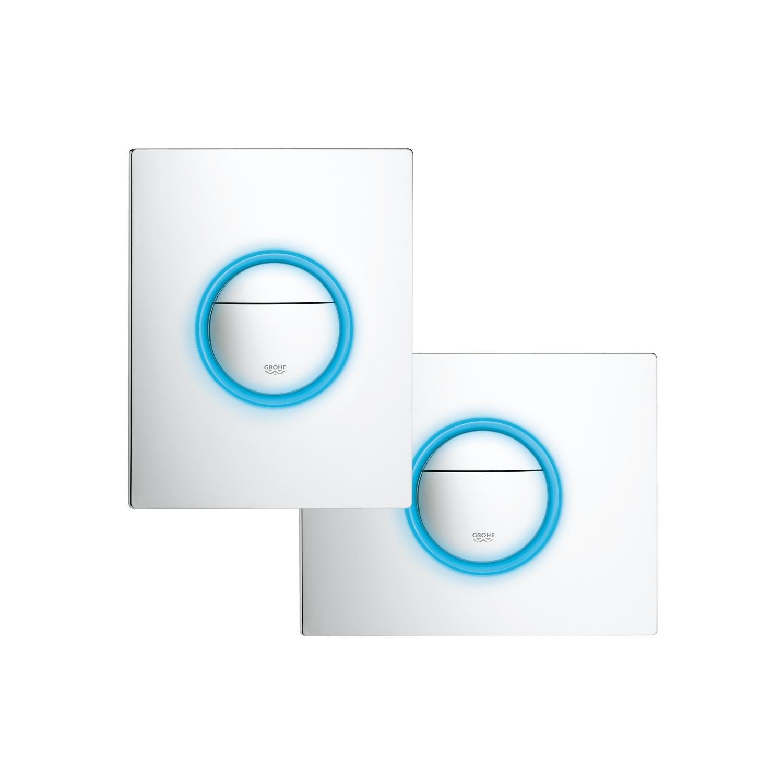 plaque de commande wc suspendu grohe plaque geberit frontale chrome brillant geberit with. Black Bedroom Furniture Sets. Home Design Ideas
