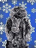 Cheap Caroline's Treasures SC9770CHF Black Standard Poodle Winter Snowflakes Flag Canvas, Large, Multicolor