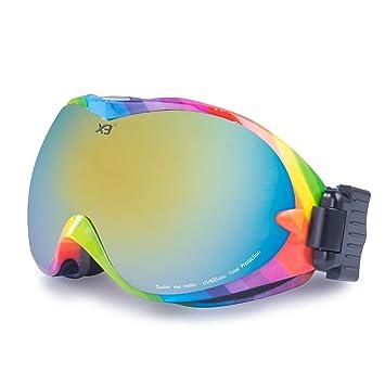 KuKoTi Masque de Ski Protection UV400 Double Ecran Anti-buée ,Anti-Ultraviolet  , 1d3d75dd9e79