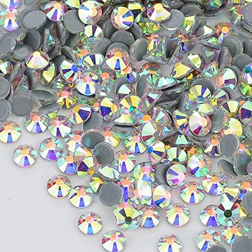Facerain Flatback Hotfix Rhinestones Crystal AB Glass Stones SS3-SS40 ()