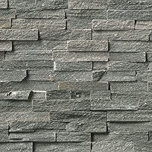 4 Pack Of Dumapan SMP Masonry Grey Brick Effect Wall Panel   3D Effect PVC  Bathroom / Kitchen Wall Panels