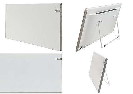Bendex LUX Radiador eléctrico blanco, 1200W, IP24 para baños, soporte pared y de