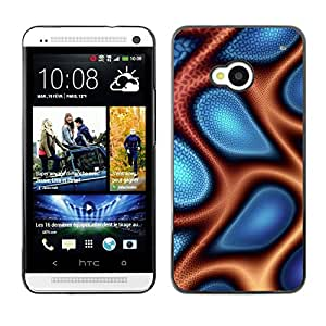 "For HTC One ( M7 ) , S-type Extracto azul y naranja"" - Arte & diseño plástico duro Fundas Cover Cubre Hard Case Cover"