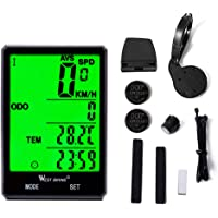 Domary Cronômetro de ciclismo de velocímetro de bicicleta com tela grande de 2,8 polegadas e odômetro à prova de chuva
