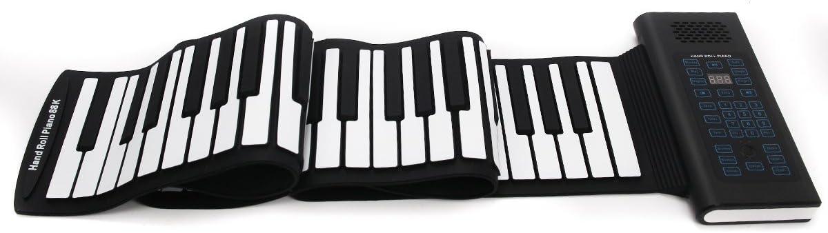 Teclado Piano electrónico plegable con 88 llaves con altavoz ...