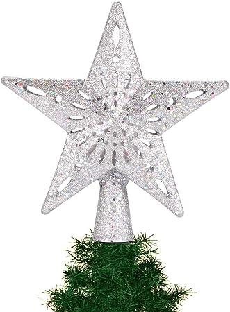 AOZBZ Estrella de árbol de Navidad con Luces proyectoras de Ondas ...