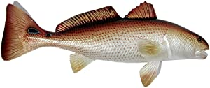 """LX Jumbo Handpainted Red Drum Fish Wall Mount Decor Plaque Saltwater Game Fish Replica 36"""""""