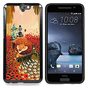 - Lion Flowers Cartoon Fairy Tale Art Friends - - Snap-On Rugged Hard Cover Case Funny HouseFOR HTC ONE A9