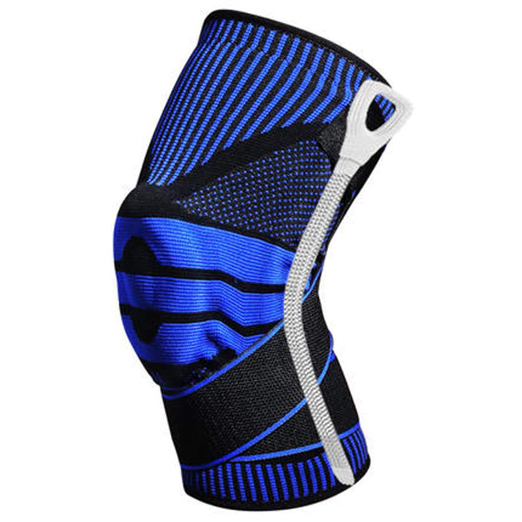 HQCC Sports Basketball Men's Professional Protective Gear Ladies Outdoor Running Fitness Knee Pads 3 Styles can Choose (Color : Dark Blue, Size : M)