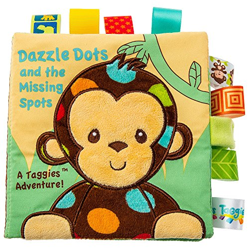 Taggies Dazzle Dots Monkey Soft Plush Book W, Crinkly Pages And Silky Tags