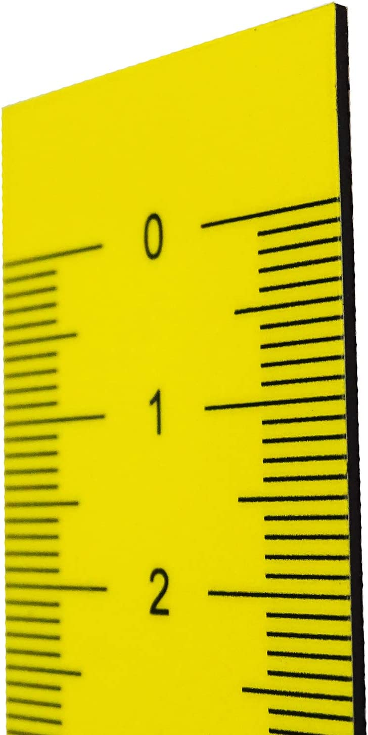 Magnetic Tape Measure 1 Metre Flexible Magnetic Tape I Ruler Magnetic Marking Tape Tool Flexible Tape Measure 100 cm 1000 x 30 mm Yellow