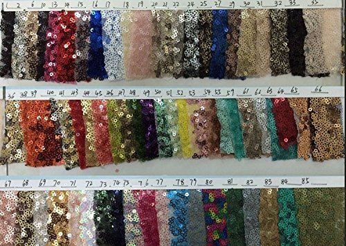 TRLYC 3Ft*7Ft Shimmer Sequin Fabric Photography Backdrop for Wedding Colors are Available